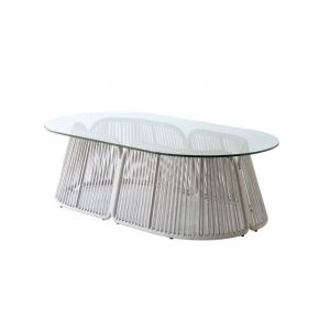COFANO COFFEE TABLE GLASS - OVAL