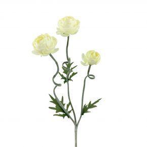 FLOWER NEW CABBAGE ROSE SPRAY CRE 60CM