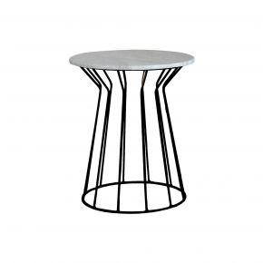 LUNA SIDE TABLE MARBLE BLACK