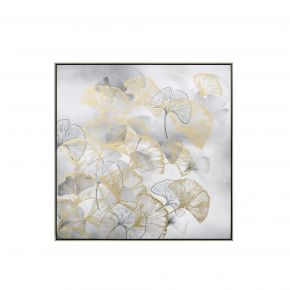 WALL DECO JAPANESE FLOWER LEFT 80X80CM